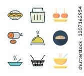 bread icon set. vector set... | Shutterstock .eps vector #1207162954