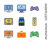 controller icon set. vector set ... | Shutterstock .eps vector #1207163044