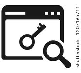 keyword research icon   Shutterstock .eps vector #1207165711
