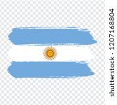 flag argentina  brush stroke...