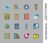 entrepreneur icon set. vector... | Shutterstock .eps vector #1207177444