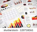 graphs and charts with power... | Shutterstock . vector #120718261