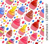 beautiful happy and cute with... | Shutterstock .eps vector #1207188487