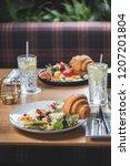 breakfast is in a cafe   Shutterstock . vector #1207201804