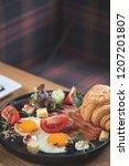 breakfast is in a cafe   Shutterstock . vector #1207201807