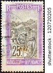 madagascar   circa 1908  a... | Shutterstock . vector #120720205