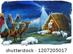religious illustration three... | Shutterstock . vector #1207205017