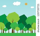 green trees and forests. clouds ... | Shutterstock .eps vector #120720721