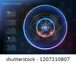 quantum computing  big data... | Shutterstock .eps vector #1207210807