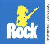 rock symbol design   Shutterstock .eps vector #1207216657