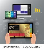 business brochure layout  vector | Shutterstock .eps vector #1207226857