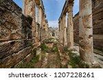 ancient latrines  hierapolis  ...   Shutterstock . vector #1207228261