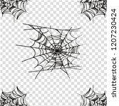 vector spider halloween... | Shutterstock .eps vector #1207230424