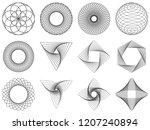 spirograph patterns set. vector ... | Shutterstock .eps vector #1207240894