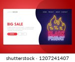 landing page. mock up website.... | Shutterstock .eps vector #1207241407