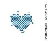 hearts icon design vector | Shutterstock .eps vector #1207241791