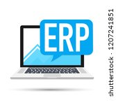 erp software  enterprise... | Shutterstock . vector #1207241851