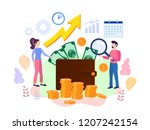 concept growth your business ... | Shutterstock . vector #1207242154