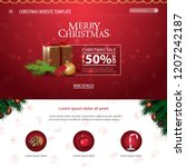 christmas website template with ... | Shutterstock .eps vector #1207242187