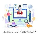 business start up concept for... | Shutterstock . vector #1207242637