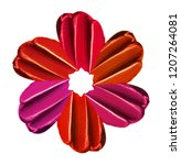 a flower from smears of... | Shutterstock . vector #1207264081