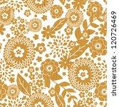 textured wooden flowers... | Shutterstock .eps vector #120726469