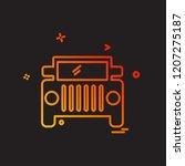trasnport icon design vector | Shutterstock .eps vector #1207275187