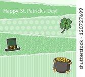 scrapbook paper with a set of... | Shutterstock .eps vector #120727699