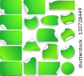 green blank sticky curled paper ... | Shutterstock .eps vector #120728449