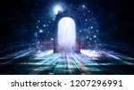 colorful 3d rendering doorway... | Shutterstock . vector #1207296991