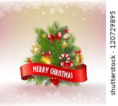 small christmas tree with... | Shutterstock .eps vector #120729895