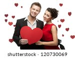 Young Smiling Caucasian Couple...