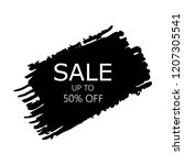 sale 50  off sign over art... | Shutterstock .eps vector #1207305541