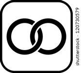 wedding rings   vector icon... | Shutterstock .eps vector #120730579