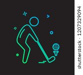 sports icon design vector | Shutterstock .eps vector #1207329094