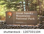 daytime photo of a great smoky... | Shutterstock . vector #1207331104