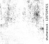 black and white grunge texture. ... | Shutterstock . vector #1207339321