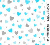 seamless pattern white... | Shutterstock . vector #1207341901
