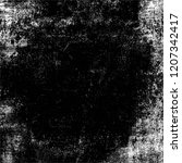 black and white grunge texture. ... | Shutterstock . vector #1207342417