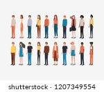 group of people friends... | Shutterstock .eps vector #1207349554