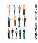 group of men friends characters | Shutterstock .eps vector #1207349581
