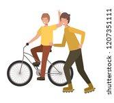 men practicing sports avatar... | Shutterstock .eps vector #1207351111