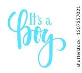 it s a boy. hand drawn...   Shutterstock . vector #1207357021