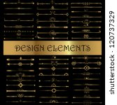 set of vintage design elements  ... | Shutterstock .eps vector #120737329