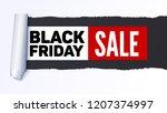 black friday sale. sale... | Shutterstock . vector #1207374997