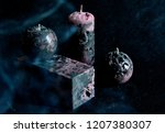 christmas candles and lights | Shutterstock . vector #1207380307