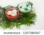 christmas candles and lights | Shutterstock . vector #1207380367