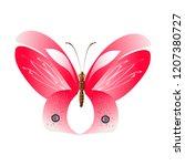 beautiful red butterflies ... | Shutterstock .eps vector #1207380727