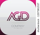 logo letter combinations a  g... | Shutterstock .eps vector #1207381537