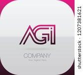 logo letter combinations a  g... | Shutterstock .eps vector #1207381621